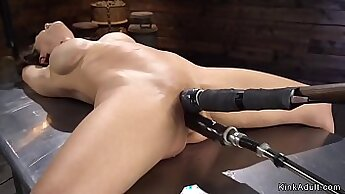 milf is getting her shaved pussy banged in the garden