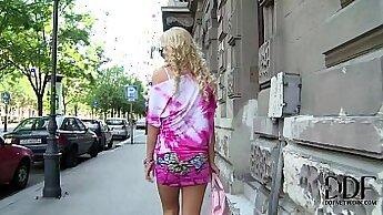 Blonde Euro Babe Fucks Her Asshole