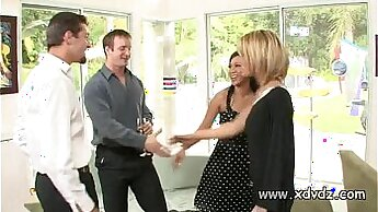Cucked by housewife while ex husband is out watching