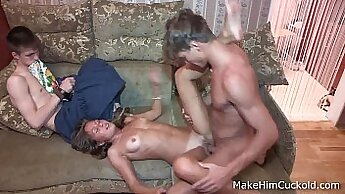 Bonny dude with an awesome smile attacked this hot chick