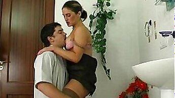 Cocksucking Russian beauty jerking her big cock