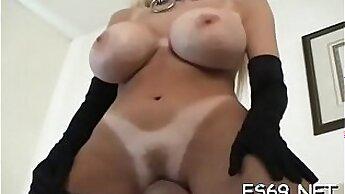 Babe Sabrina dominates enormous dick