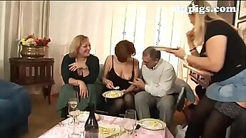 Classy group of sluts fare steamy orgy in the barn