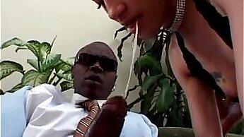 Black addicts fuck white dick and get some hard internal joy
