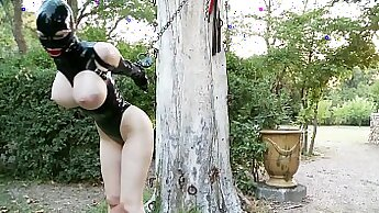 Big rubber tit, cock, stakes, latex gloves. I just saw thick dildo fucking