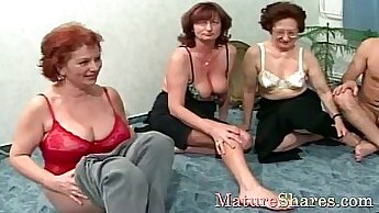 Busty Granny Having Oral And Creampied