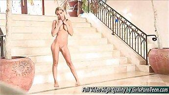 Blonde babe dancing Nude - Music Video