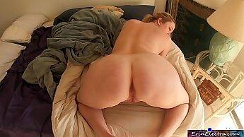 Big breasted stepmom got doggy fucked in pov