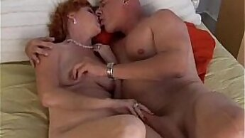 Big tit mature redhead babe fucked by guy