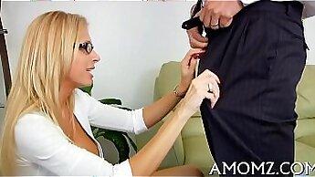Beautiful having seen your mom do porn