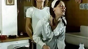 CrisPondit films tiniest porn scenes while wearing panty italian maid