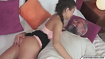 grandpa shows us how to play with erotic toys