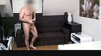 Casting creampie with a dark haired bitch here