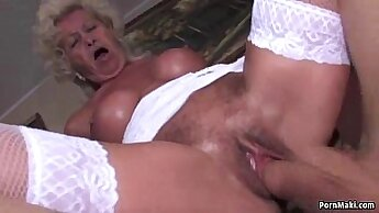 Cumming with me non stop for petite granny