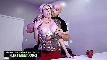 Amateur Wife Rides On Chair While Husband Watches