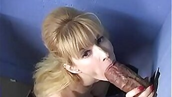 Busty black girl rides dick on gloryhole