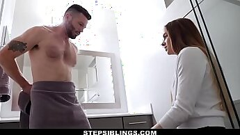 Brianna seduces lovely blonde and she cums in the bathroom