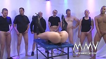TagTeam Interracial Gangbang with German Virgin xxx