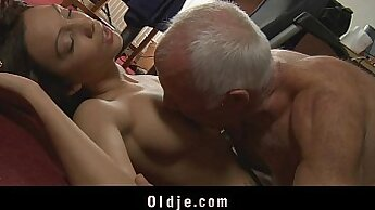 Busty Cathy Young handles cock of her boss