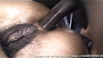 Black hairy mix anal and facial