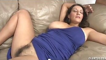 Big Tit MILF Gets Her Pussy Rubbed by Stud
