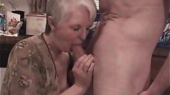Animated granny slut spreading her titties for orgasm
