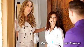 Busty brunette mommy Brandi Love gets her muff eaten and fucked