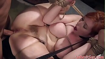 Naughty and rugged brunette chick with BDSM desires to get pussy eaten